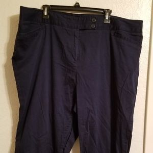 Lane Bryant Navy Blue Capris 24